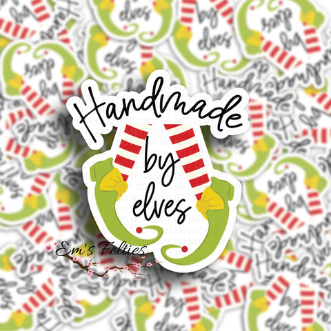 Handmade By Elves Stickers