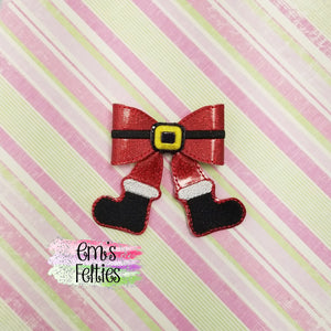4in Santa Boots Bow Kit