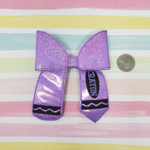 4in Purple Crayon Bow Kit