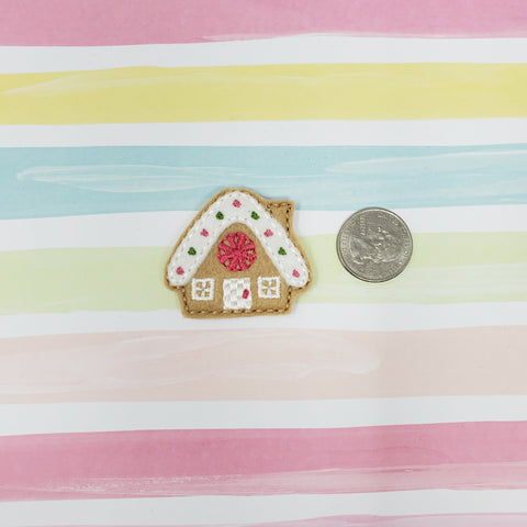 RTS Gingerbread House Feltie 1.75in