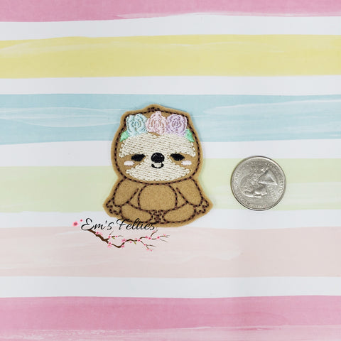 RTS Girly Sloth Feltie 2in