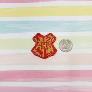House Crest Red HP Feltie 1.75in