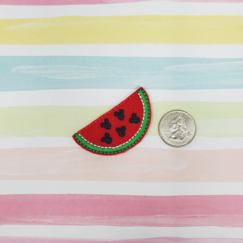 Mouse Watermelon Feltie 2.08in