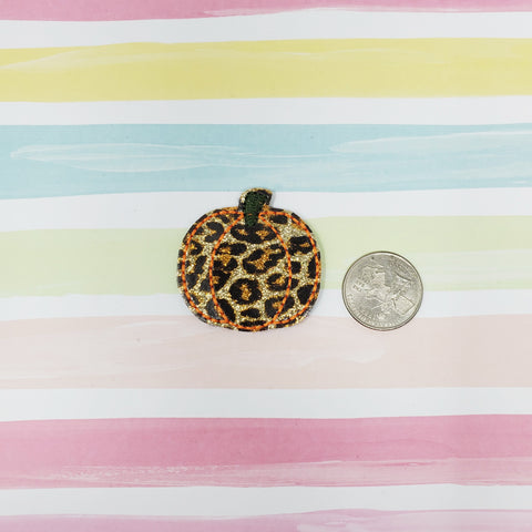 RTS Glitter Cheetah Simple Pumpkin Feltie 1.63in