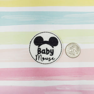 RTS Baby Boy Mouse Feltie 2in