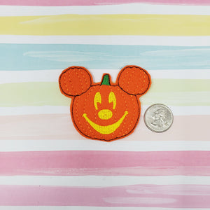 RTS Oversized Mr Mouse Pumpkin Head Feltie 3in