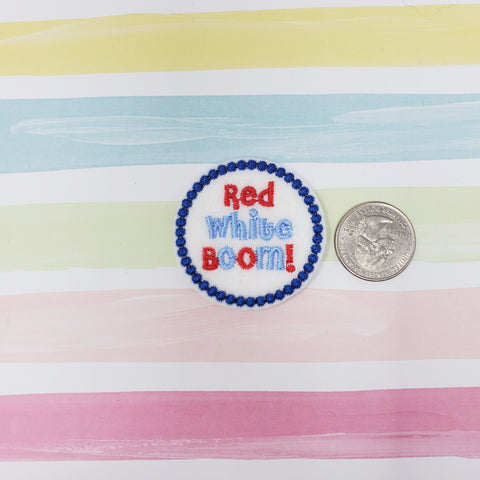 RTS Red White Boom Feltie 1.75in