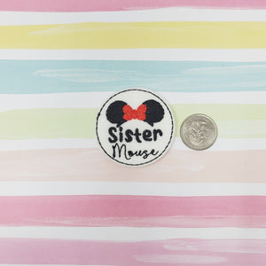 RTS Sister Mouse Feltie 2in