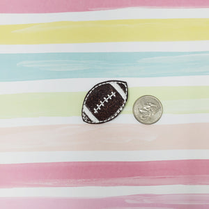 RTS Glitter Football Feltie 1.75in
