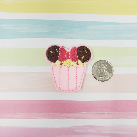 Miss Mouse Cupcake Feltie 2in