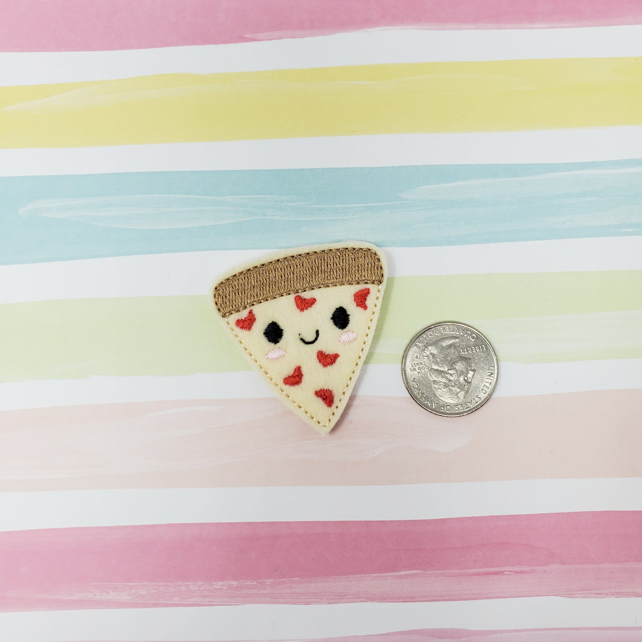 RTS Love Pizza Feltie 1.75in