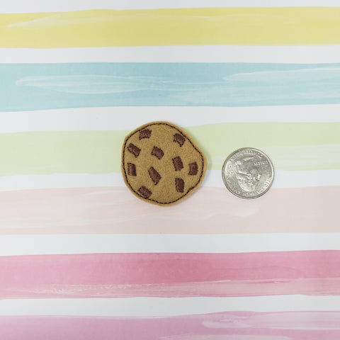 RTS Chocolate Chunk Cookie Feltie 1.47in