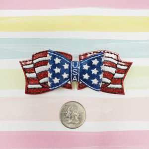 3.5in American Flag Bow Kit