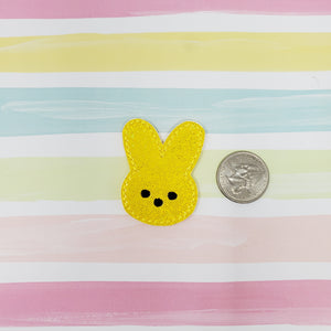 Glitter Yellow Marshmallow Peep Feltie 1.8in