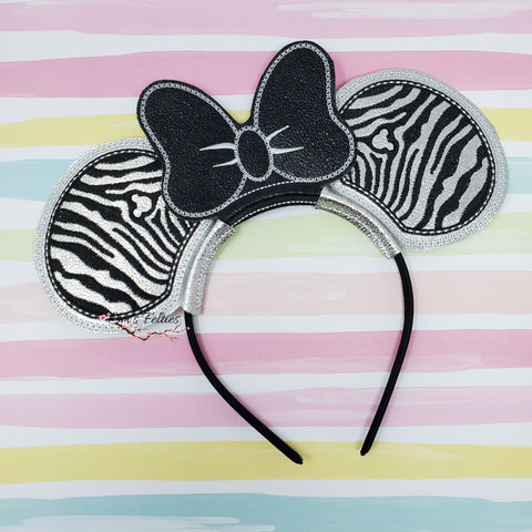 Zebra Print Mouse Ear Sliders
