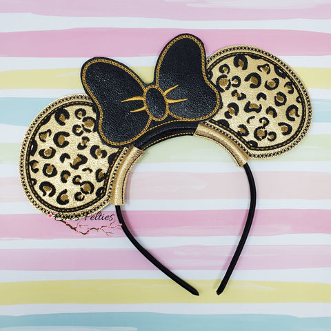 Cheetah Print Mouse Ear Sliders