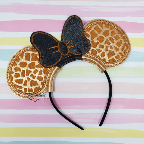 Giraffe Print Mouse Ear Sliders