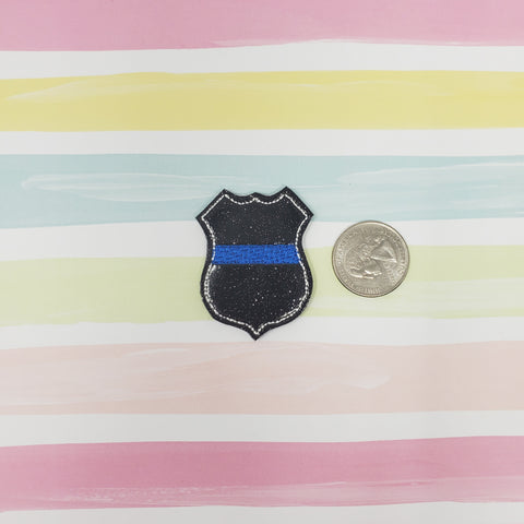 Glitter Police Badge Feltie 1.75in