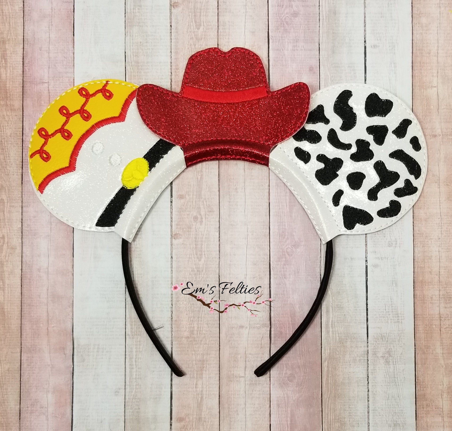Cowgirl Jesse Mouse Ear Sliders