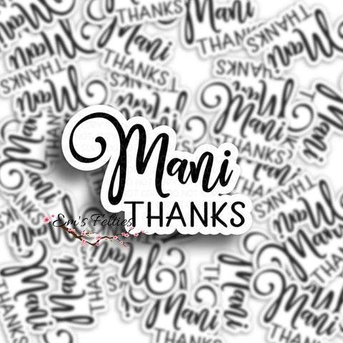 Mani Thanks Mailing Stickers