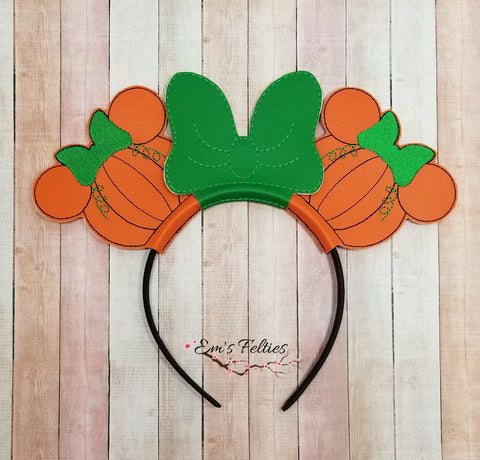 RTS Miss Mouse Pumpkin Mouse Ear Sliders