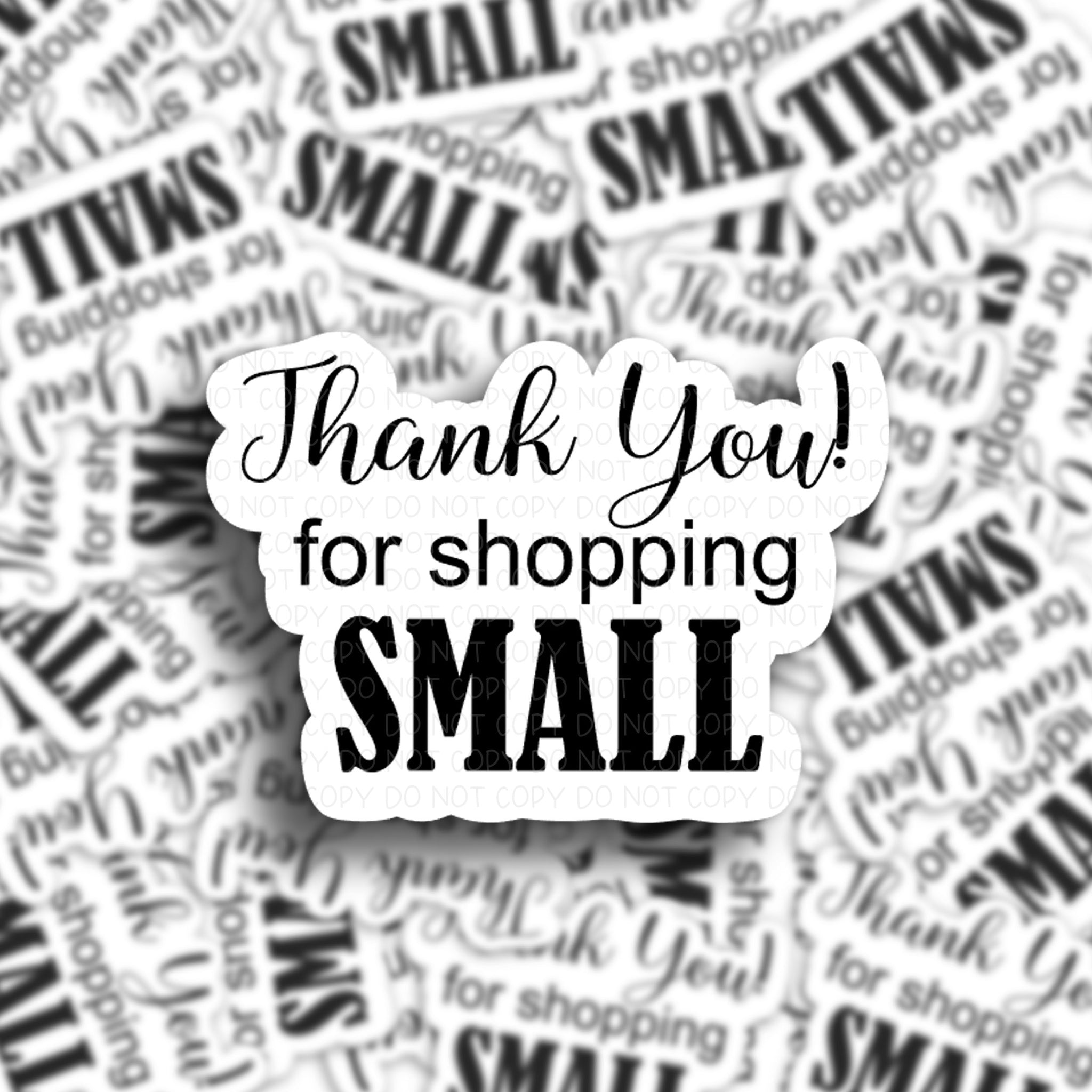 Thank You For Shopping Small Mailing Stickers