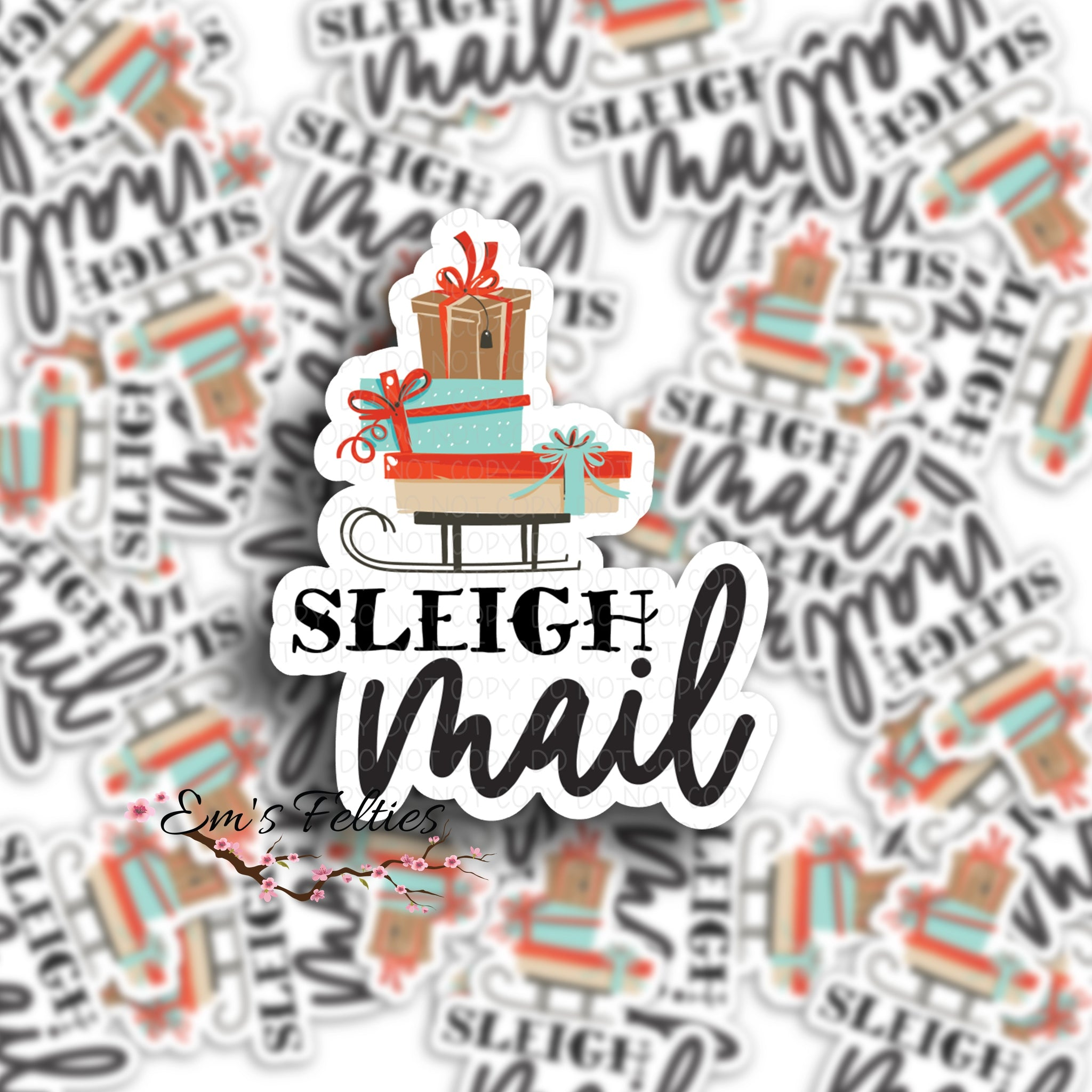 Sleigh Mail Stickers