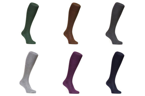 J.FitzPatrick Footwear - Egyptian Cotton & Merino Wool Socks 6 for 5