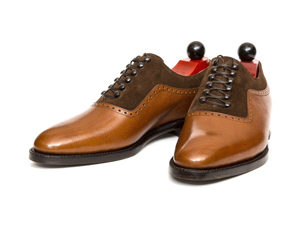 J.FitzPatrick Footwear - Broadmoor - Tan Grain / Dark Brown Suede - TMG Last