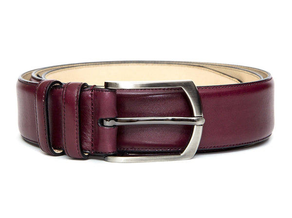 Leather Belt - Burgundy Calf