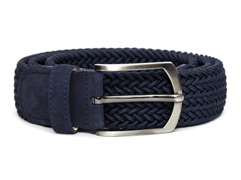 J.FitzPatrick Footwear - Braided Belt - Navy / Navy Suede