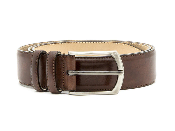 J.FitzPatrick Footwear - Leather Belt - Walnut Museum Calf