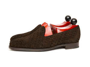 J.FitzPatrick Footwear - Laurelhurst ll - Braided Dark Brown Suede
