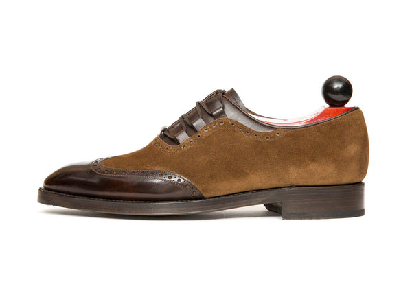J.FitzPatrick Footwear - Leavenworth - Dark Brown Museum Calf / Snuff Suede