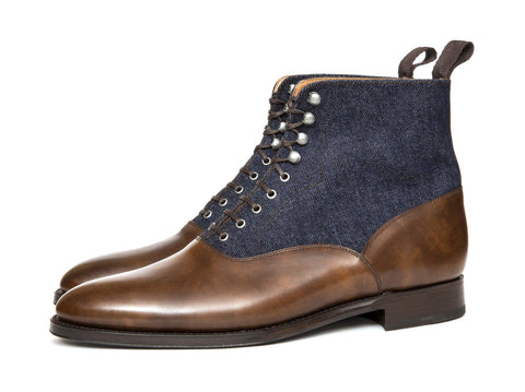J.FitzPatrick Footwear - Wedgwood - Copper Museum Calf / Denim - Sale