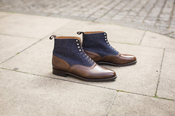 J.FitzPatrick Footwear - Wedgwood - Copper Museum Calf/Denim