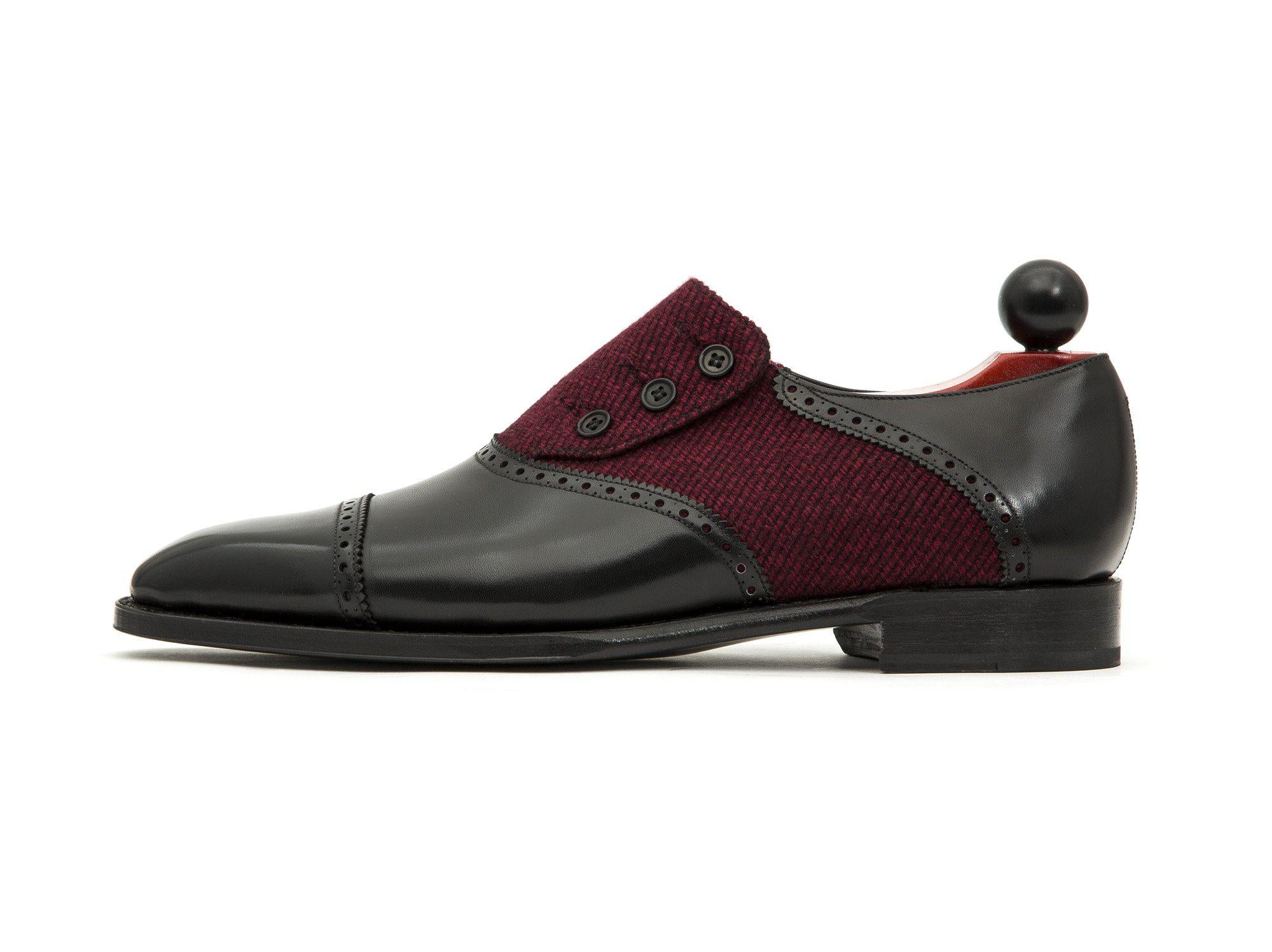 J.FitzPatrick Footwear - Cyril - Black Calf / Red Poulsbo - LPB Last