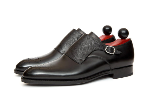 J.FitzPatrick Footwear - Corliss lll - Black Calf / Black Scotch Grain