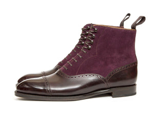 J.FitzPatrick Footwear - Seaview PreSale - Plum Museum Calf / Regal Purple Suede