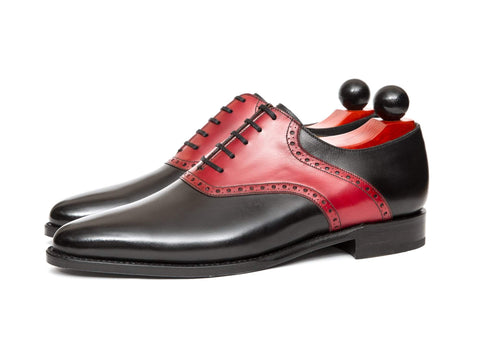 J.FitzPatrick Footwear - Stefano Redux - Black Calf / Red Calf - Sale