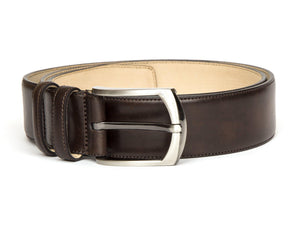 J.FitzPatrick Footwear - Leather Belt - Dark Brown Museum Calf