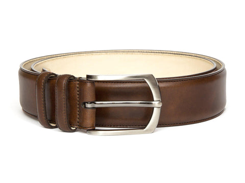 J.FitzPatrick Footwear - Leather Belt - Copper Museum Calf