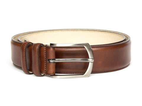 J.FitzPatrick Footwear - Leather Belt - Gold Museum Calf