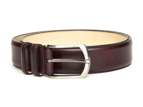 Leather Belt - Plum Museum Calf