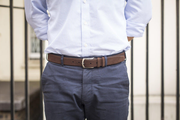 Suede Belt - Chocolate Brown