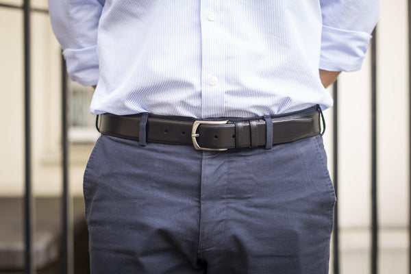 J.FitzPatrick Footwear - Leather Belt - Black Calf