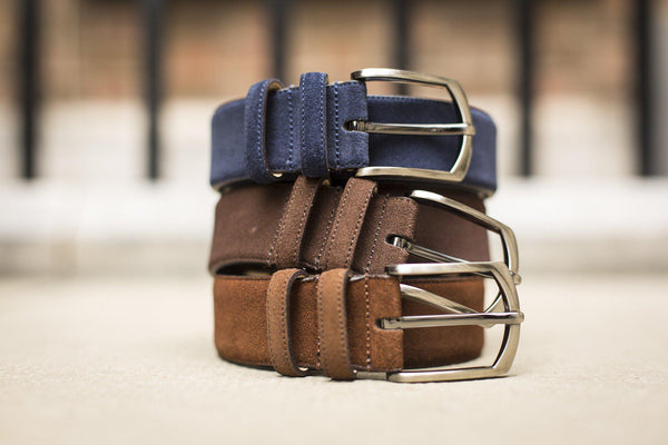 J.FitzPatrick Footwear - Suede Belt - Chocolate Brown