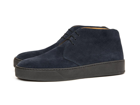J.FitzPatrick Footwear - Anacortes - Navy Suede / Black Rubber Sole