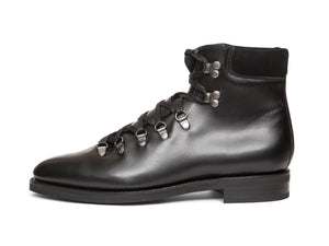 J.FitzPatrick Footwear - Snoqualmie - Black Calf - City Rubber Sole - TMG Last