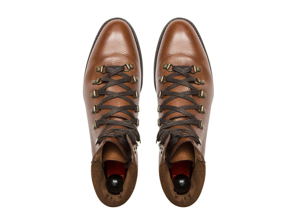 J.FitzPatrick Footwear - Snoqualmie - Tan Soft Grain - City Rubber Sole - TMG Last